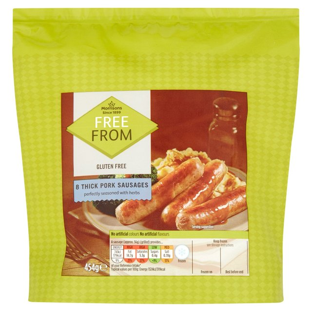Morrisons 8 Free From Sausages