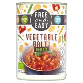 Free & Easy Organic Vegetable Balti