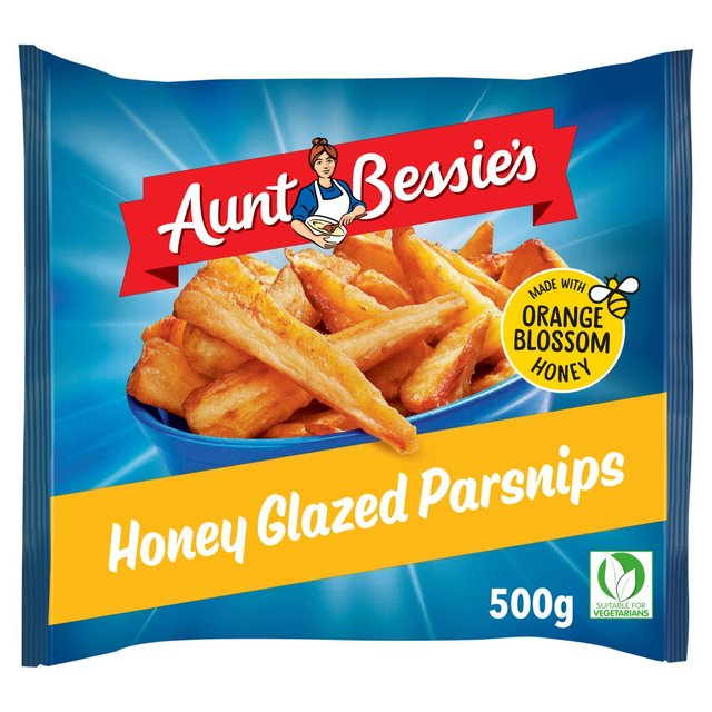 Aunt Bessie's Honey Glazed Parsnips