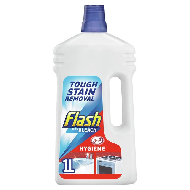 Flash Liquid with Bleach Powerful Multi Surface Cleaner