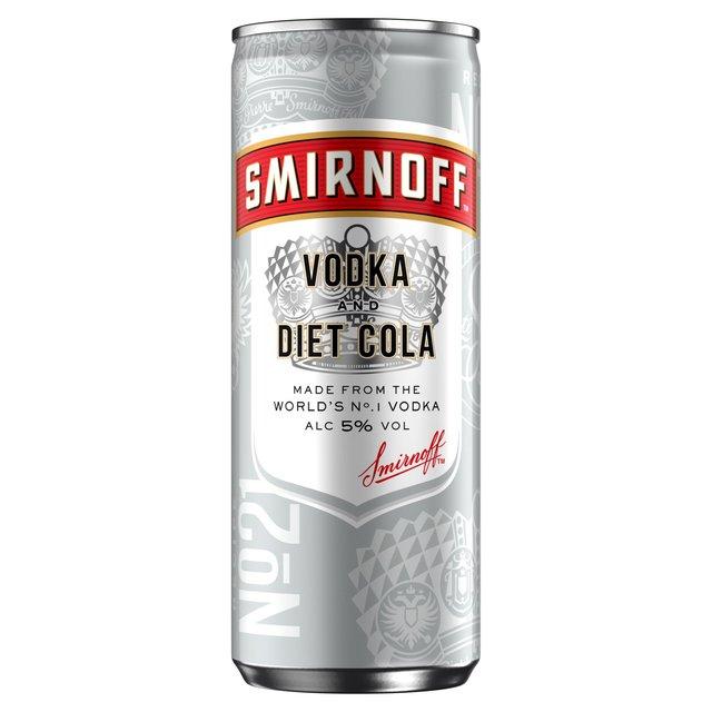 Morrisons: Smirnoff & Diet Cola Vodka Mixed Drink 250ml