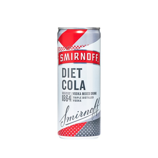 Smirnoff & Diet Cola Vodka Mixed Drink
