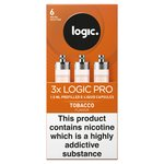 Logic Pro Capsules Tobacco Flavour 6Mg