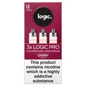 Logic Pro Capsules Cherry Flavour 12Mg
