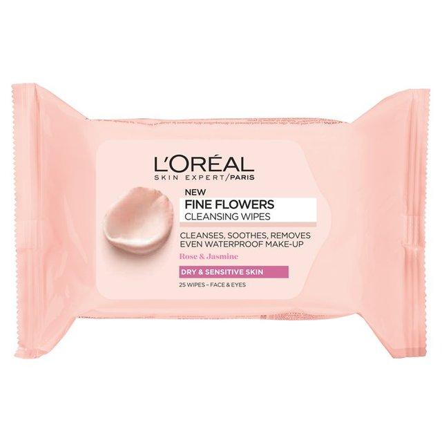 L'Oreal Fine Flowers Wipes Dry/Sensitive Skin