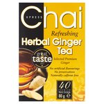 Chai Express Refreshing Herbal Ginger Tea
