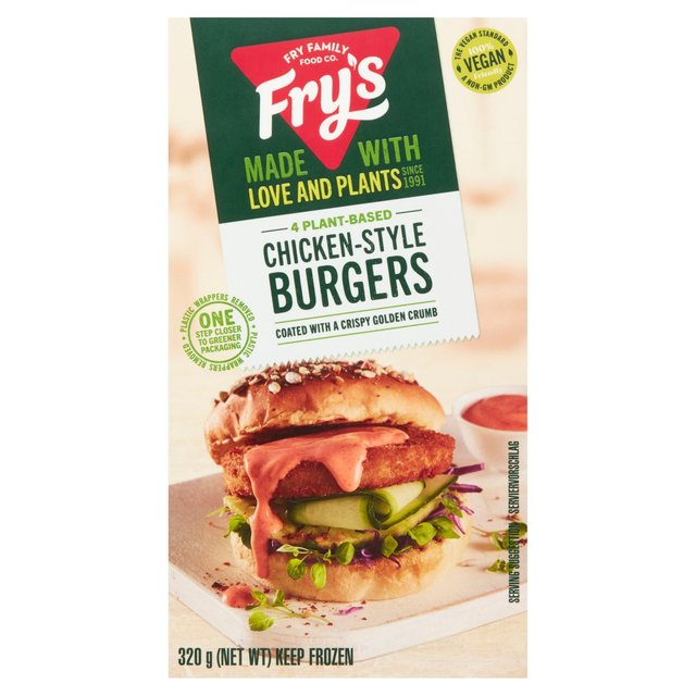 Fry's Meat Free 4 Chicken Style Burgers