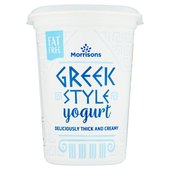 Morrisons Fat Free Greek Style Yogurt