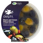 Delphi Black & Green Pitted Green Olives