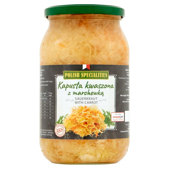 Polish Speciality Sauerkraut With Carrot