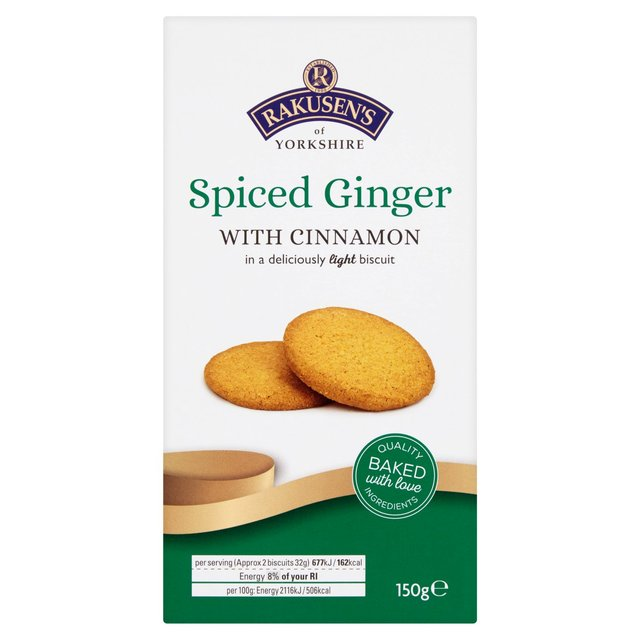 Rakusens Spiced Ginger With Cinnamon Biscuits