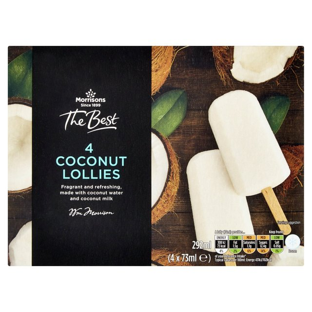 Morrisons The Best Coconut Ice Lollies 4 Pack