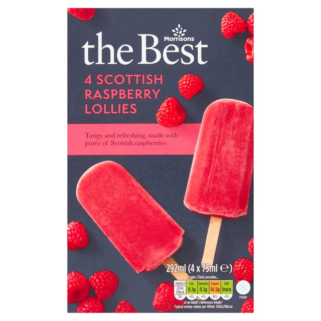 Morrisons The Best Raspberry Lollies 4 Pack