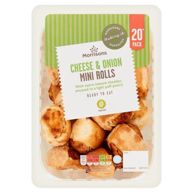 Morrisons 20 Mini Cheese & Onion Rolls