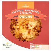 Morrisons Chorizo, Red Pepper & Tomato Quiche