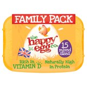The Happy Egg Co. 15 Free Range Eggs Mixed Weight