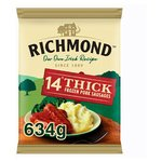 Richmond Thick Frozen Sausages 14 Pack