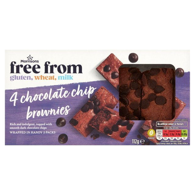 Morrisons Morrisons Free From Choc Chip Brownie 120g