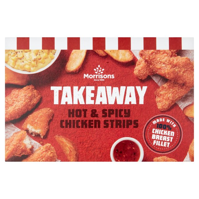 Morrisons Hot & Spicy Coated Chicken Strips