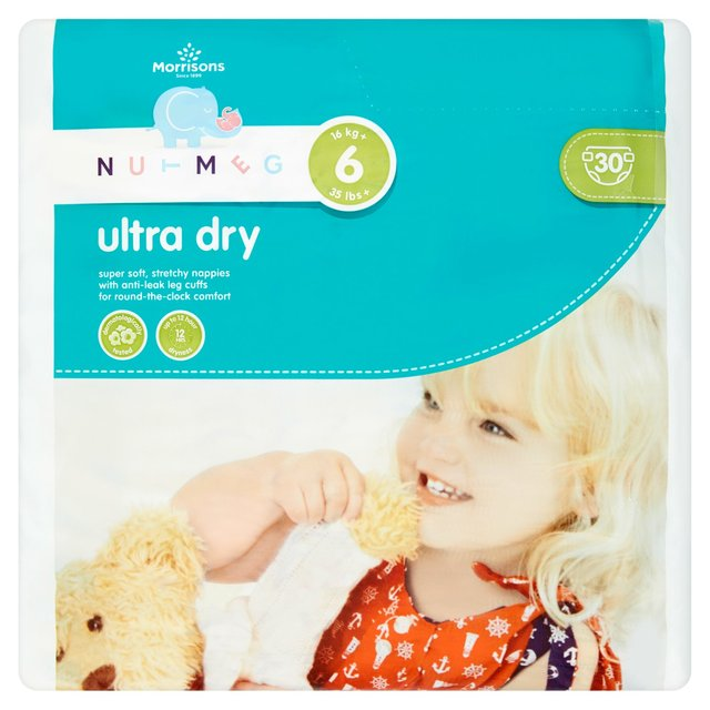 Nutmeg Nappies Ultra Dry Size 6