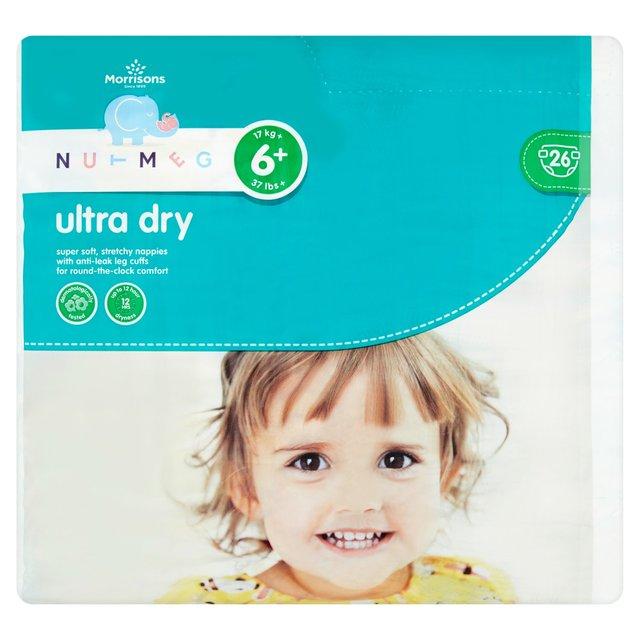 Nutmeg Nappies Ultra Dry Size 6+