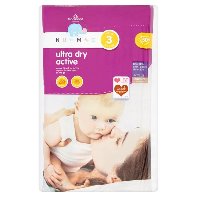 Nutmeg Nappies Ultra  Dry Active Size 3