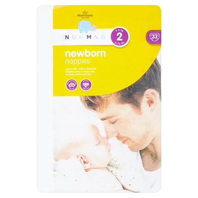 Nutmeg New Born Nappies Size 2