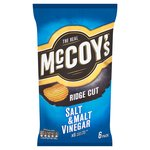McCoy's Ridge Cut Salt & Malt Vinegar 6 pack