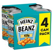Heinz Beanz No Sugar Added Multipack