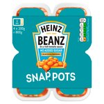 Heinz Beanz No Sugar Added Snap Pots