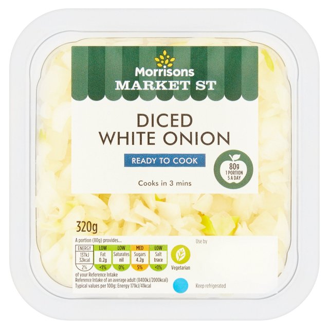 Morrisons Diced White Onion