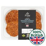 Morrisons The Best 4 Pork & Chorizo Burgers