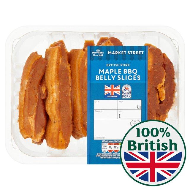 Morrisons Market St Maple BBQ Pork Belly Slices