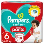Pampers Baby-Dry Nappy Pants Size 6 Nappy Pants, 15+ kg, Easy-On