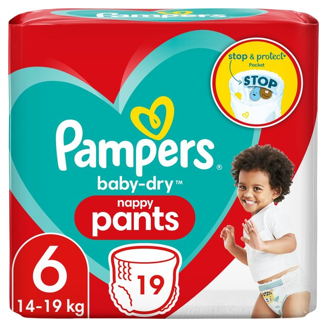 Pampers Baby Dry Nappy Pants Size 6