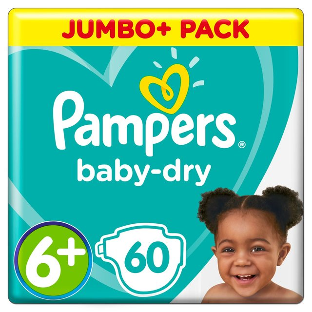 Pampers Baby Dry Nappies 6+ Giant