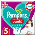 Pampers Premium Protection Active Fit Size 5 Nappy Pants, 12-17kg