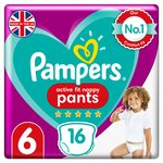 Pampers Premium Protection Active Fit Nappy Pants Size 6, 15+kg