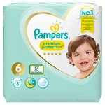 4Pampers Premium Protection Size 6, Nappies, 13kg+