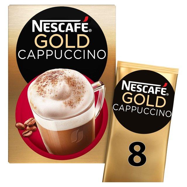Morrisons Nescafe Gold Cappuccino Coffee 8 Sachets X 17g