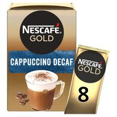 Nescafe Gold Cappuccino Decaf Coffee 8 Sachets x 15g