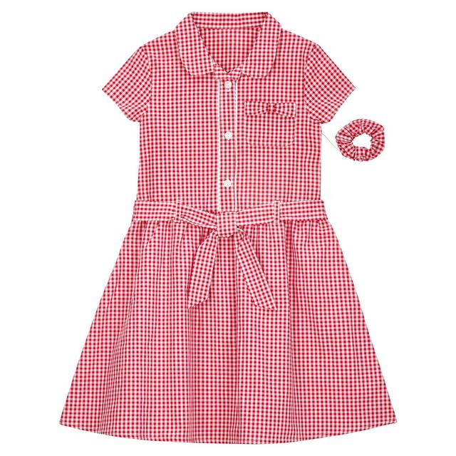 Nutmeg Girls Red Gingham Dress & Scrunchy