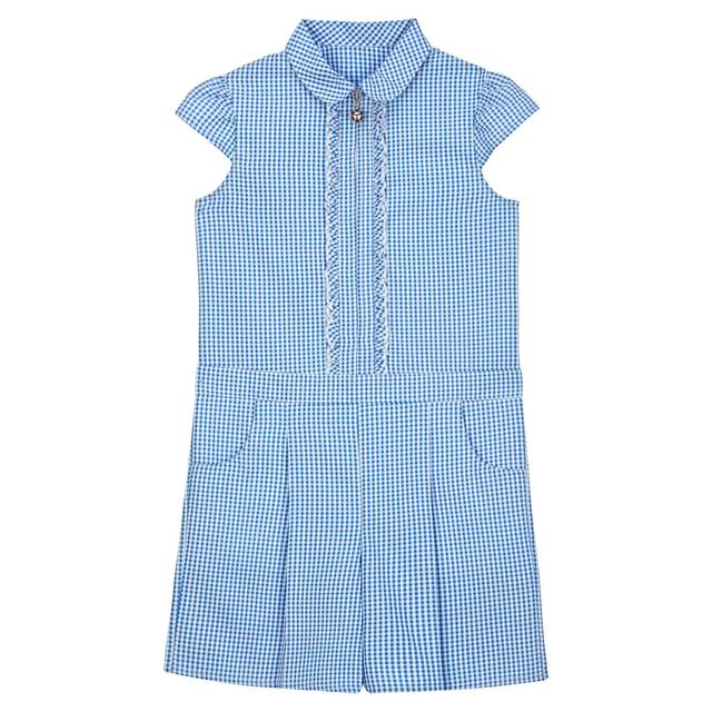 Nutmeg Girls Blue Ruffle Playsuit Size 5-6 Years