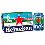 Heineken 0.0 Alcohol Free Beer Cans