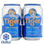 Tiger Beer. Delivered Chilled