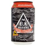 Elk Warning Crafted Apple Cider With Wild Strawberries
