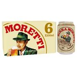 Birra Moretti Lager Beer Cans