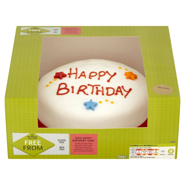Morrisons Morrisons Free From Happy Birthday Cake Product Information