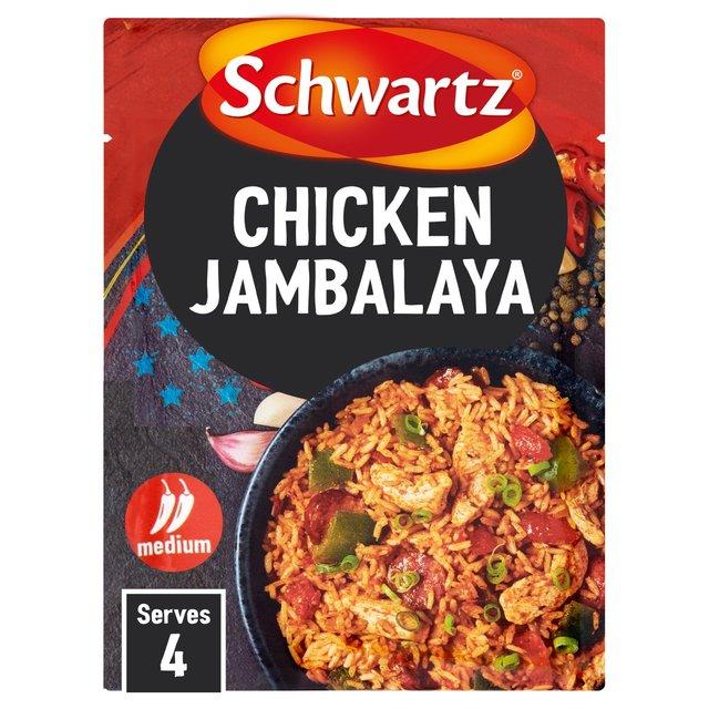 Morrisons schwartz chicken jambalaya recipe mix 35gproduct schwartz chicken jambalaya recipe mix forumfinder Choice Image