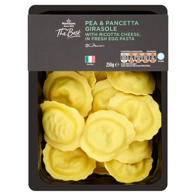 Morrisons The Best Pea & Smoked Pancetta Girasole